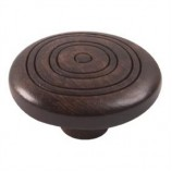 Wooden Engraved Knob 420WE